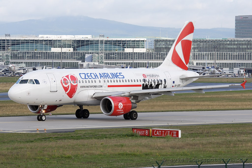 CSA Czech Airlines Airbus A319 special sticker