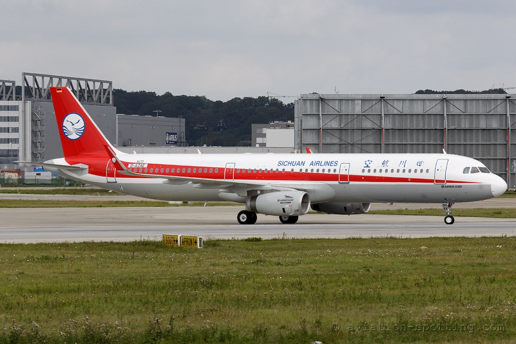 Sichuan Airlines Airbus A321 (China)