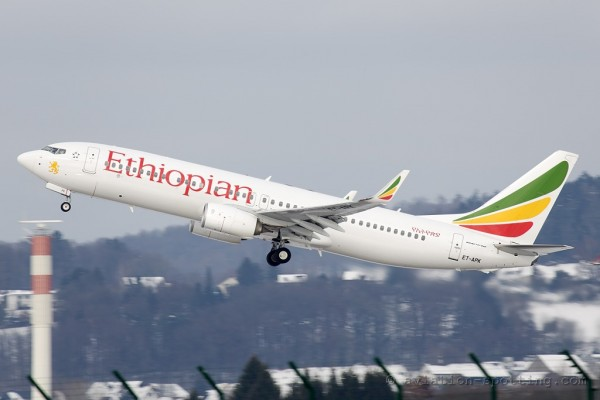 Ethiopian Airlines Boeing B737-800