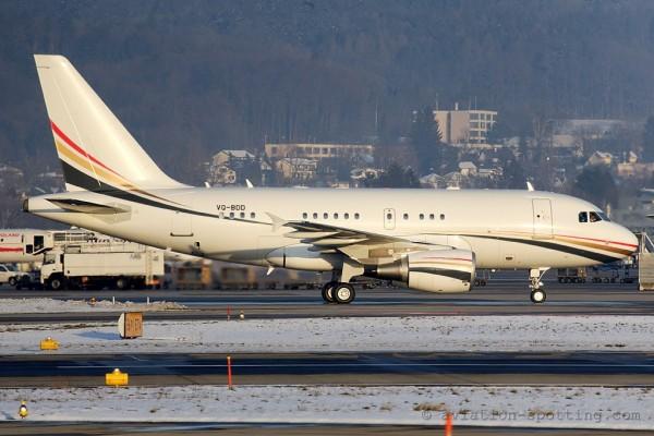 Jordanian Government Airbus 318 Elite
