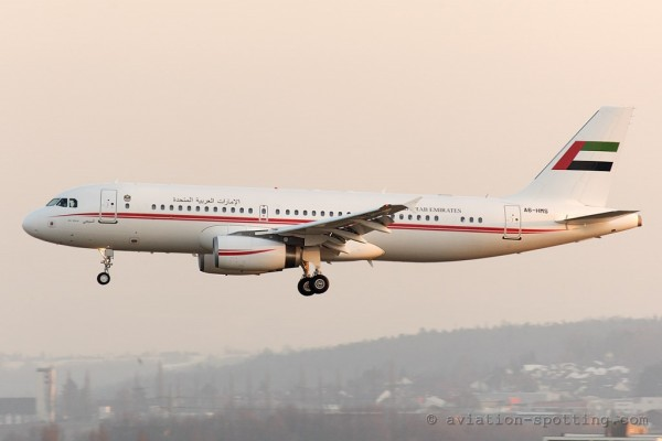 UAE Fujairah Royal Flight Airbus 320