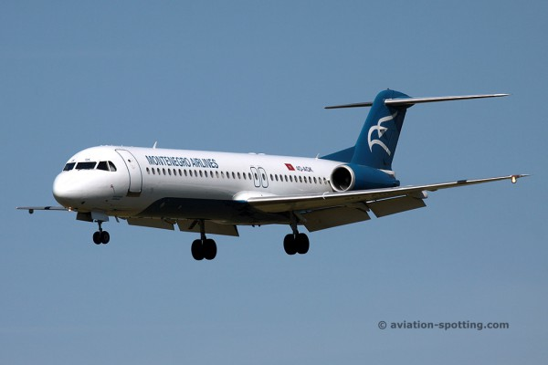 Montenegro Airlines Fokker F100