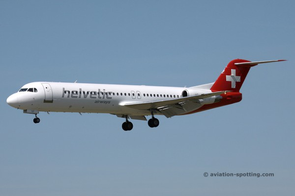 Helvetic Airways Fokker F100 (Switzerland)