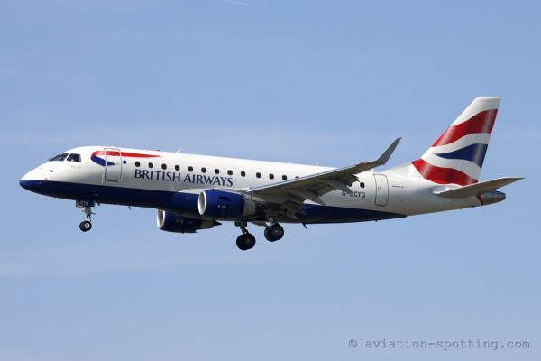 BA Cityflyer Express Embraer E170 (UK)