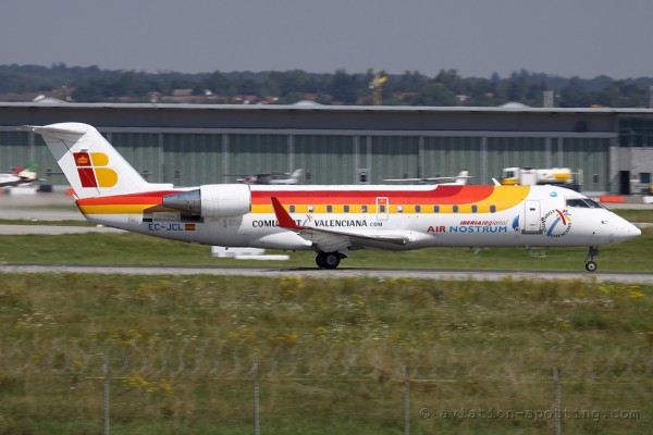 Iberia Regional (Air Nostrum) Canadair CRJ 100/200 (Spain)