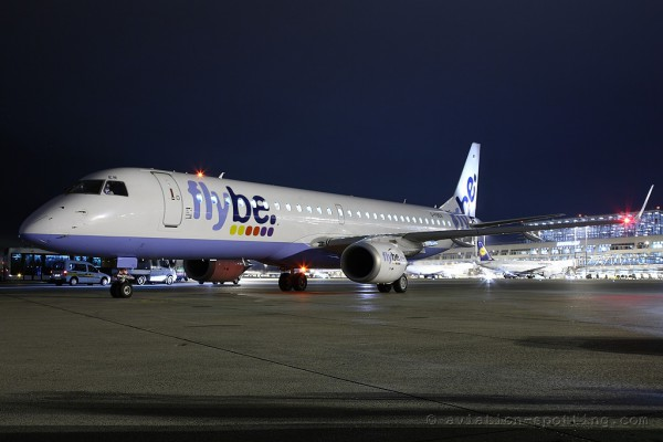 FlyBe Embraer E195 (UK)