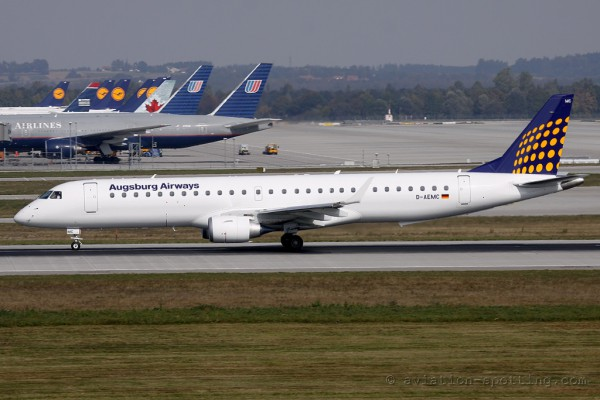 Augsburg Airways Embraer E195 (Germany)