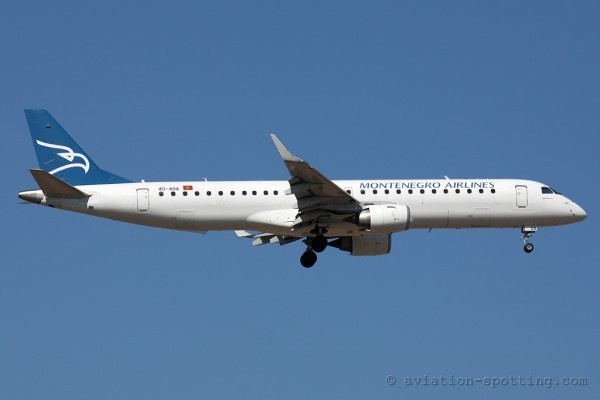 Montenegro Airlines Embraer E195