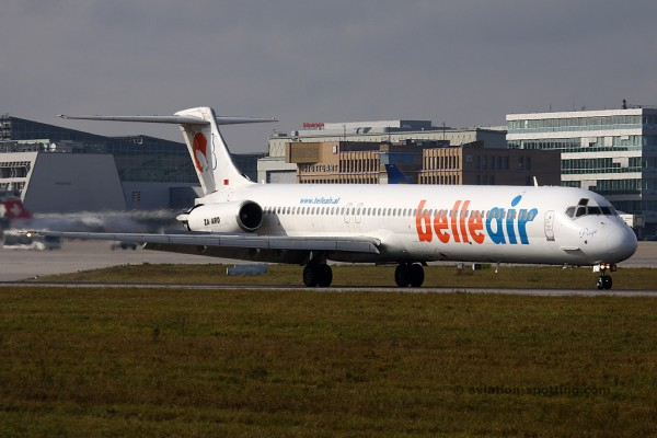 Belle Air McDonnel Douglas MD 82 (Albania)