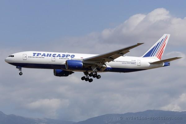 Transaero Airlines Boeing B777-200 (Russia)
