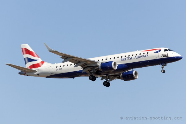 BA Cityflyer Express Embraer E190 (UK)