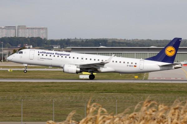 Lufthansa Regional (CityLine) Embraer E190 (Germany)