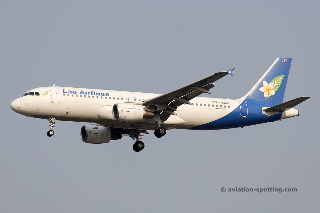Lao Airlines Airbus A320 (Laos)