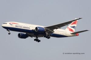 British Airways Boeing B777-200 (UK)