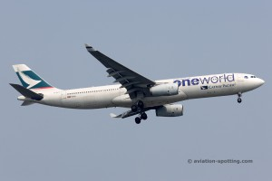 Cathay Pacific Airbus 330-300 (China) oneworld livery