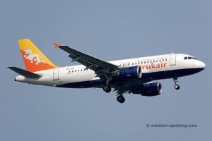 Drukair - Royal Bhutan Airlines Airbus 319