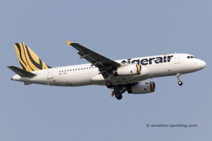 Tigerair Airbus 320 new colours (Singapore)