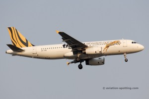 Tigerair Airbus 320 old colours (Singapore)