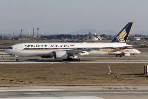 Singapore Airlines Boeing B777-200