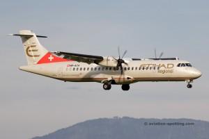 Etihad Regional (Darwin Airline) Aerospatiale ATR72 (Switzerland)