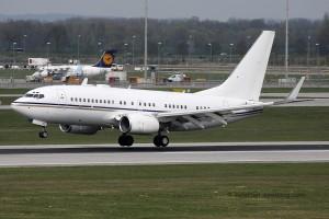 A6-DAS Boeing B737-700 BBJ Royal Jet