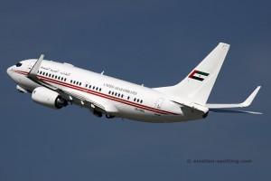 A6-HRS Boeing B737-700 BBJ Dubai Royal Flight