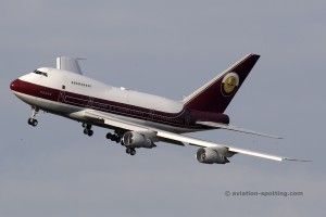 VP-BAT Boeing B747SP Qatar Amiri Flight
