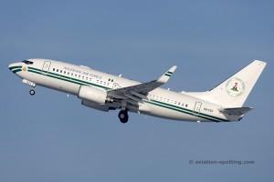 5N-FGT Boeing B737-700 BBJ Nigerian Air Force