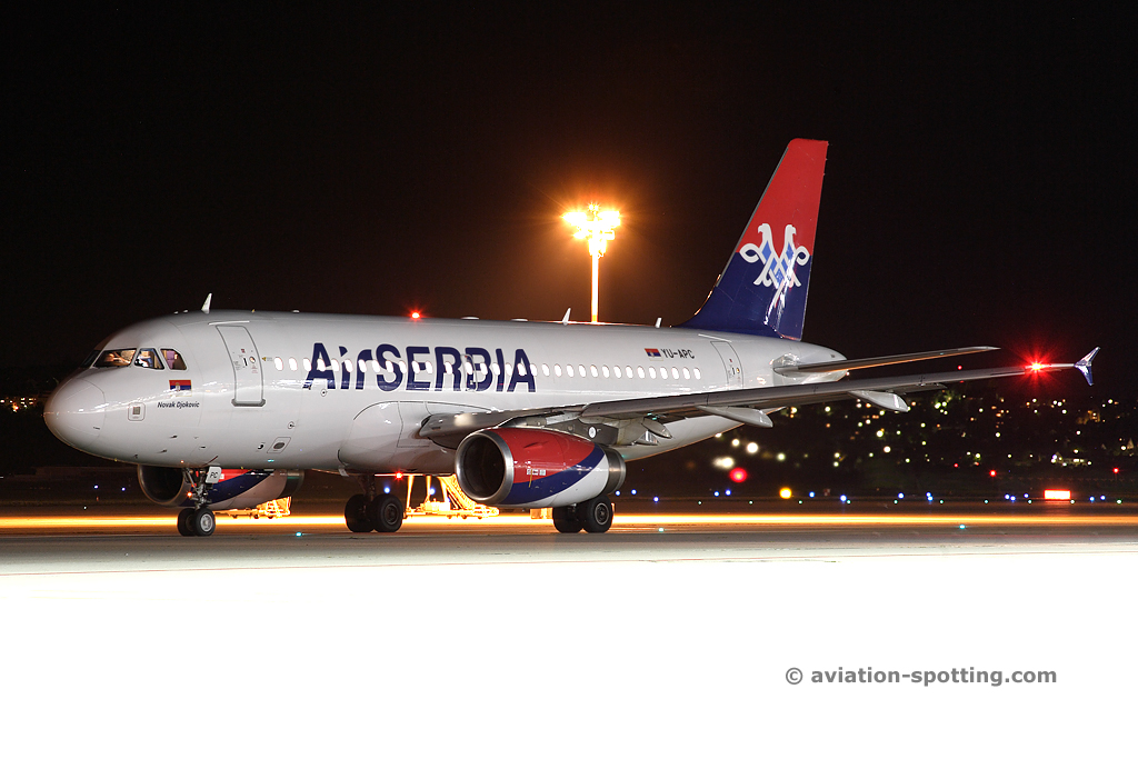 Air Serbia Airbus A319 (Serbia)