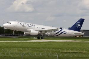 Aeroflot Airbus 320 (Russia) skyteam livery