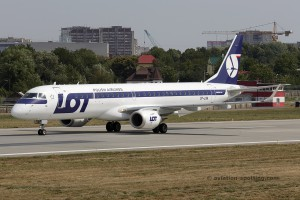 LOT Polish Airlines Embraer E195 (Poland)