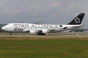 Thai Airways International Boeing B747-400 star alliance