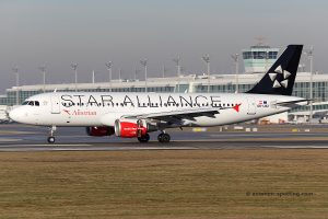 Austrian Airlines Airbus 320 Star Alliance livery