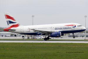 British Airways Airbus 319 (UK)