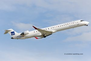 SAS Scandinavian Airlines Bombardier CRJ 900 Operated by Air Nostrum.