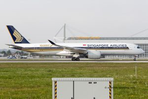 Singapore Airlines Airbus 350-900 10.000th airbus special livery