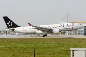 Turkish Airlines Airbus 330-200 Star Alliance livery