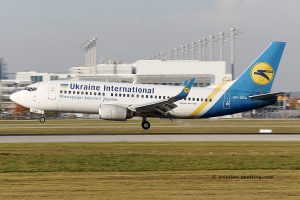 Ukraine International Airlines Boeing B737-300