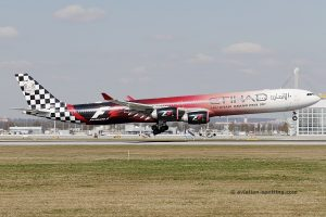 Etihad Airways Airbus 340-600 (UAE) formula one special livery