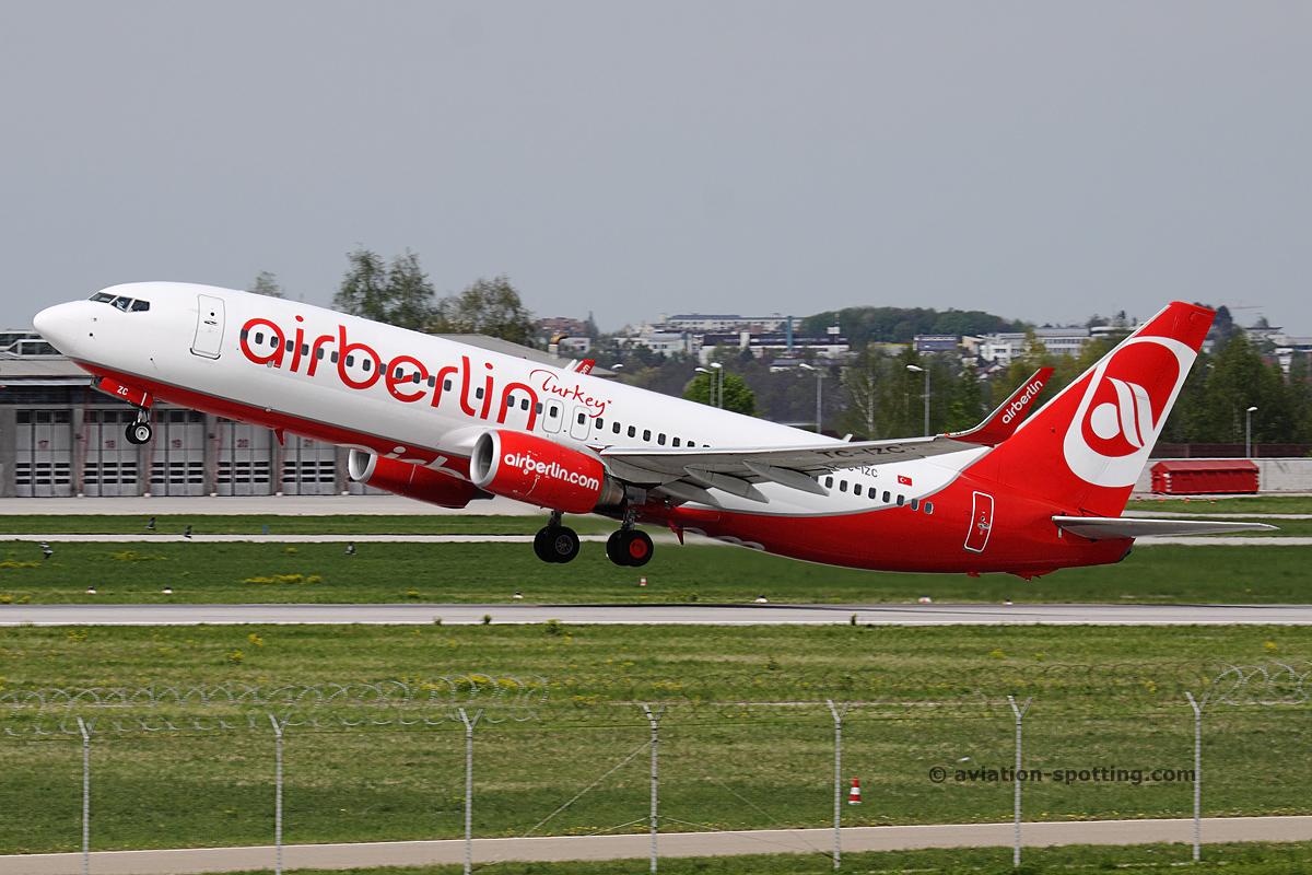 Air Berlin Turkey Boeing B737-800